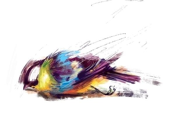 bird, death, illustration - marinaveselinovic | ello