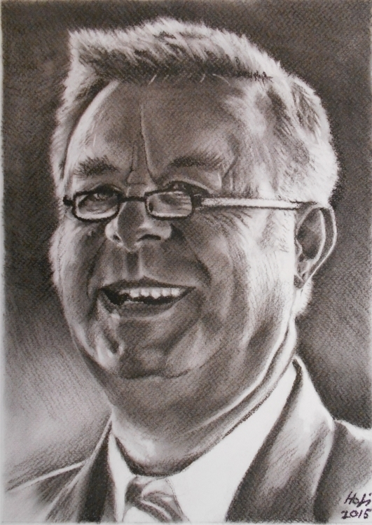 caricature, charcoal - drawing, glasses - spiritfc | ello