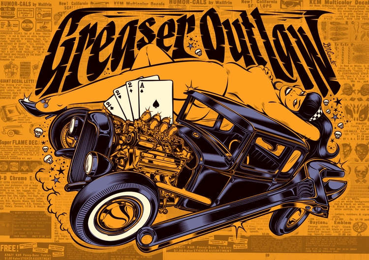 Poster GREASER OUTLAW...2016  - dvicente777 | ello