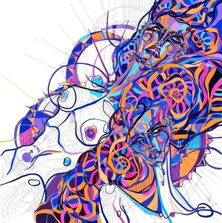 Scissor Sisters - illustration, painting - mariasusarenko | ello
