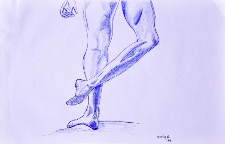 Study legs. Medium blue ballpen - winky-3948 | ello