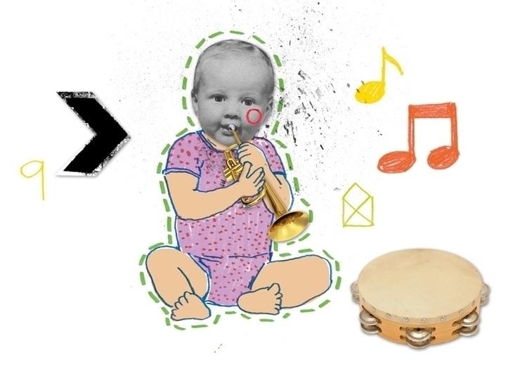 pencil,drawing,collage,children,animals,people,child,music,illustration - koopi   ello