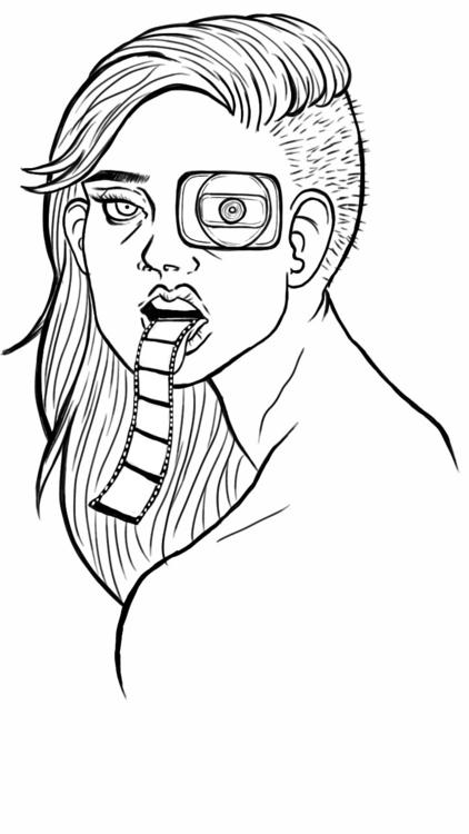 Film - film, woman, doodle, illustration - thisjustine | ello