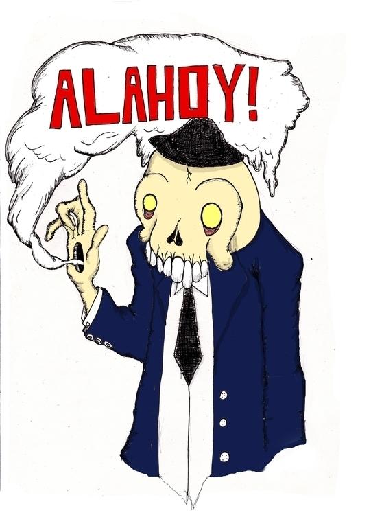 ALAHOY - illustration, penink, pencil - mridlehands | ello