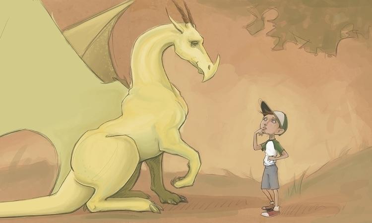 tidbit bfa thesis - dragon, drawing - corinnavargas   ello