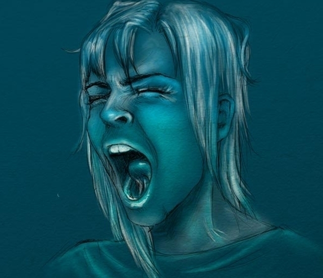 Yawn - illustration, painting, drawing - susmart | ello