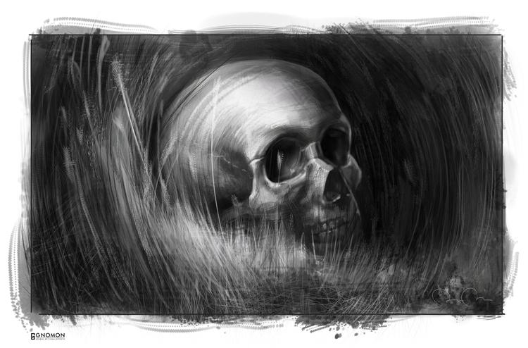 Skull study - digitalpainting - thebota | ello