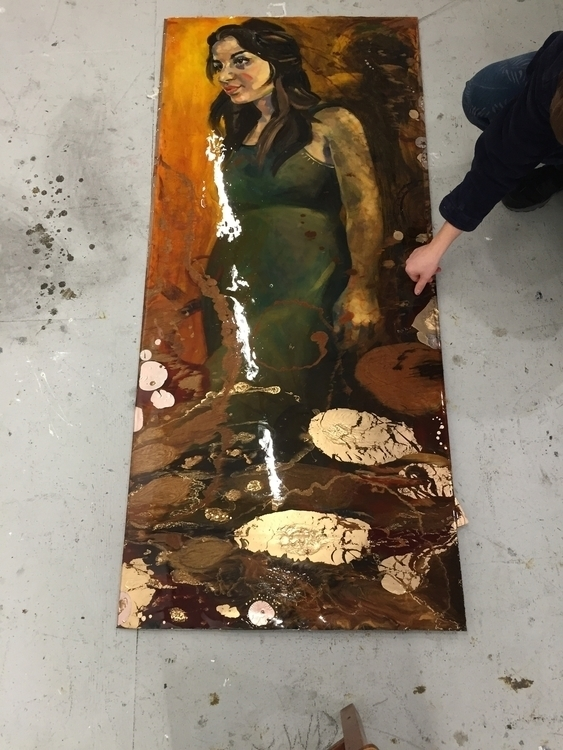 Giavanna Resin Gold Oil Paintin - katherinecafaro | ello