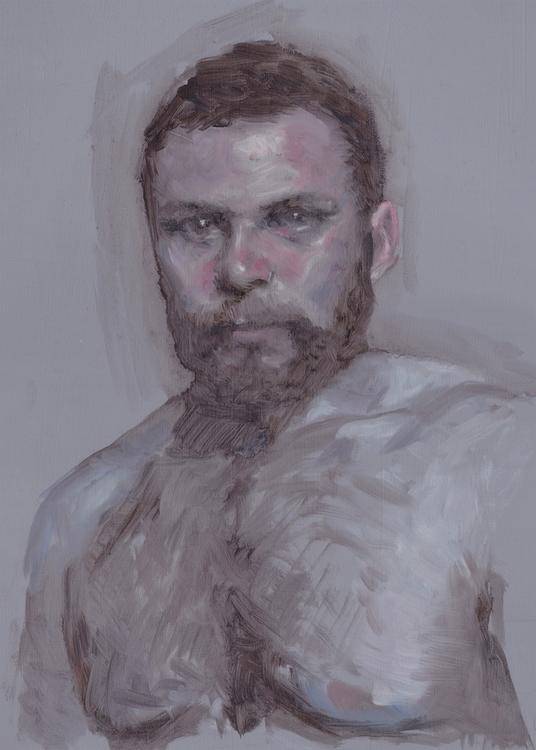 Dmitriy 2014, oil board - portrait - anastasiyat | ello
