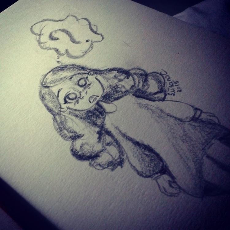 Sketch cute girl - character st - susanaicorreia | ello