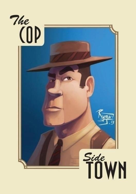 Cop - RyanJames, illustration, mafia - ryanjames-2088 | ello