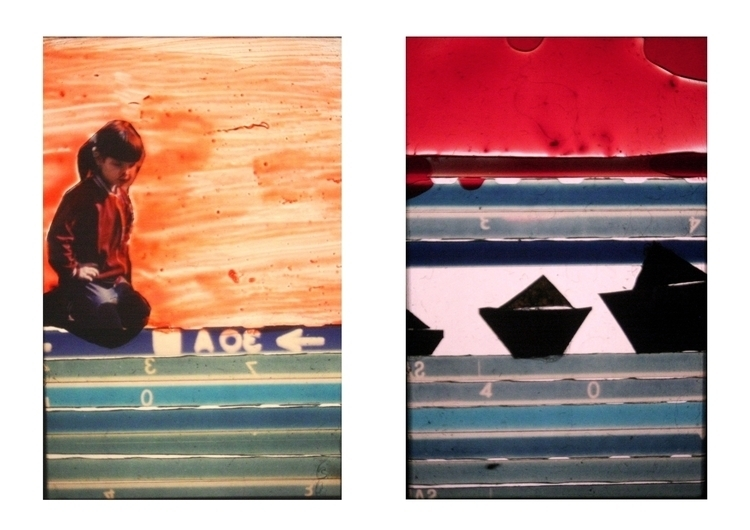 diapositive, collage, glasspainting - balint-2573 | ello