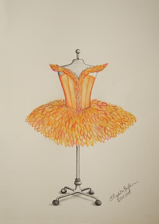 Autumn Flower Costume Design - illustration - elizabethboylan | ello