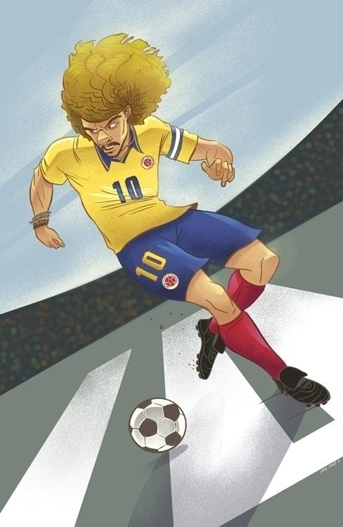 Pibe Valderrama - football, soccer - ocaicedo   ello