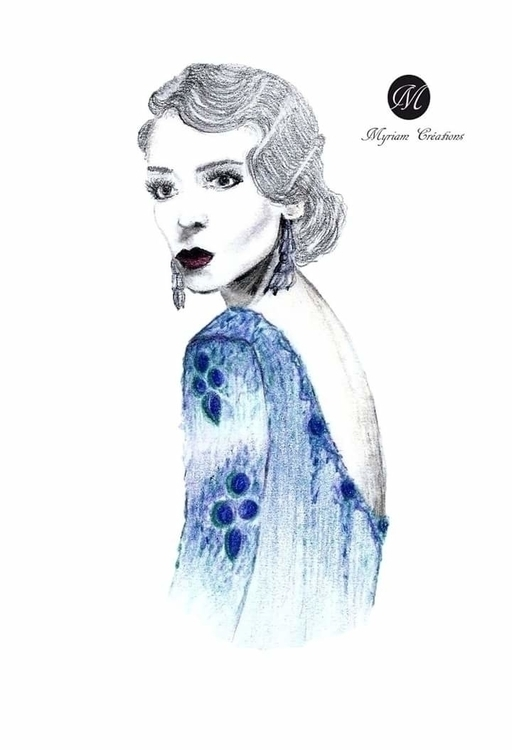 Vintage woman - #illustration, fashionillustration - miamiiam | ello