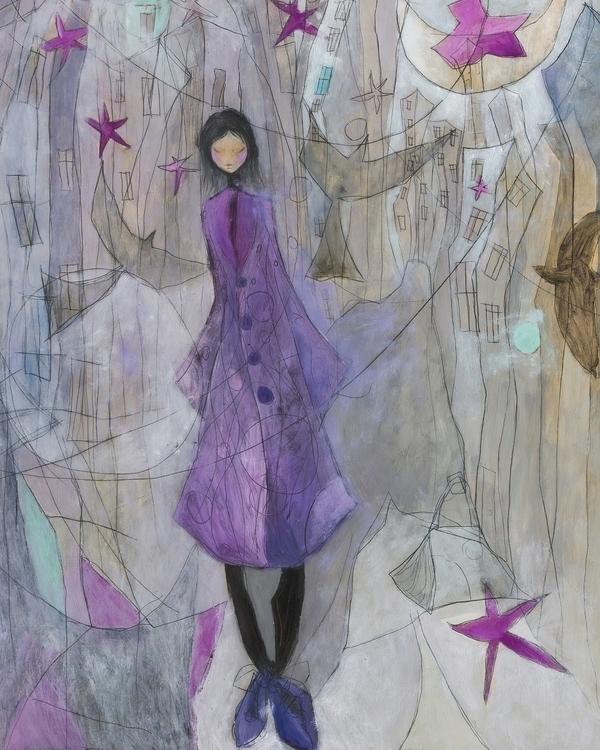 Steps dreams - illustration, painting - anna-4600 | ello
