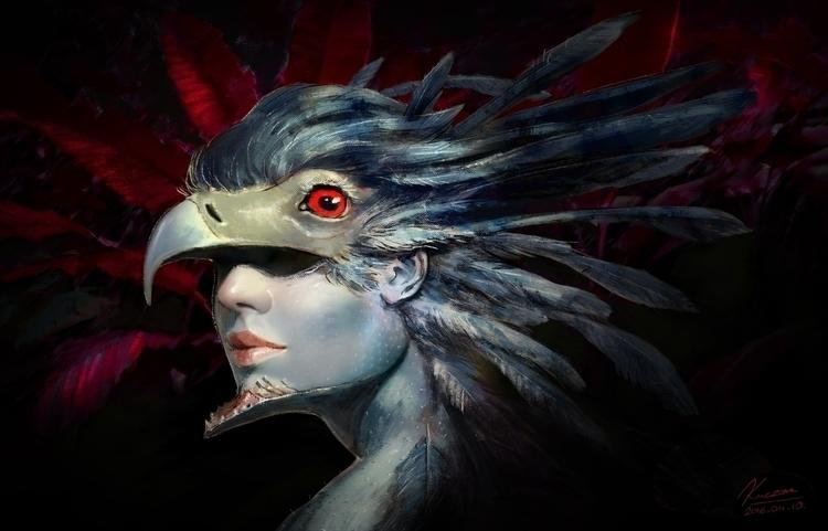 illustration, painting, characterdesign - qci   ello