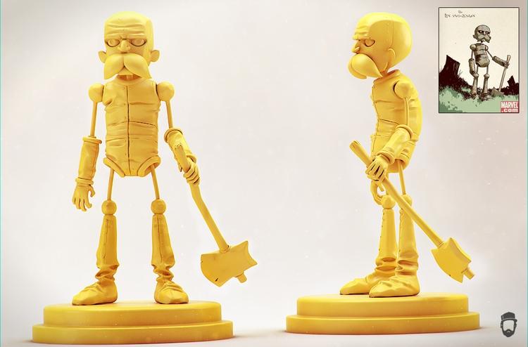Tin woodman. Concept Skottie Yo - jonfermaia | ello