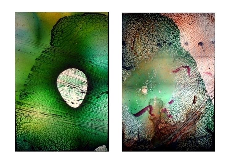 painting, glasspainting, symmetric - balint-2573 | ello