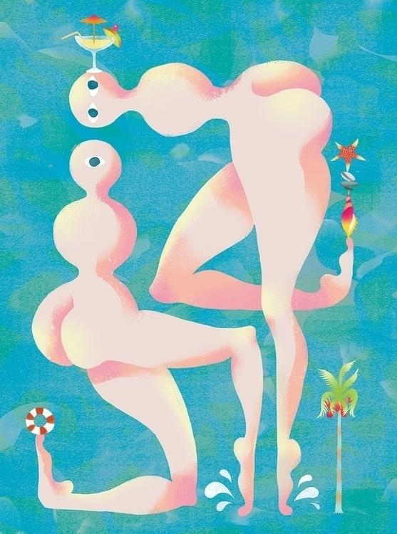 Summer - #illustration, #cocktail - yuhsuan | ello
