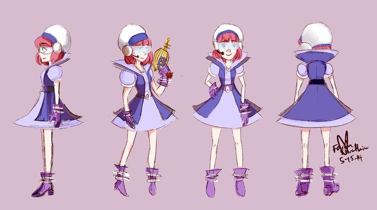 space girl concept - retrospace - fairyjelly | ello