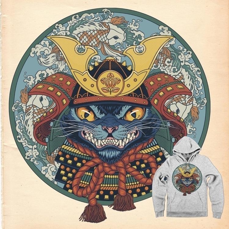 characterdesign, cat, samurai - arisuber | ello