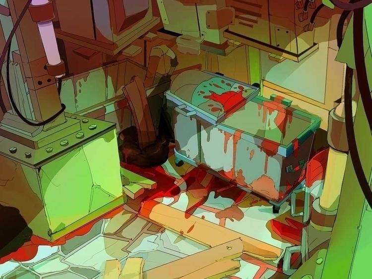 Slums alley - illustration, illustration - lucastro-9053 | ello
