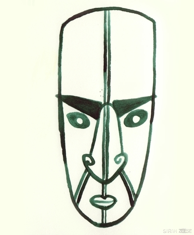 maori, drawing, character, newzealand - sarahzeese | ello