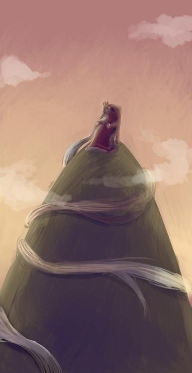 King Hill - illustration, digitalart - ryuutsuart | ello