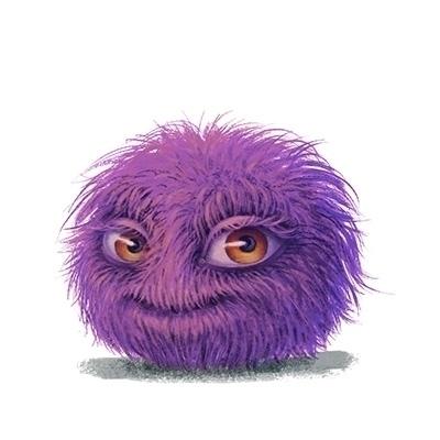 fuzzy, ball, smile, character - arisuber | ello