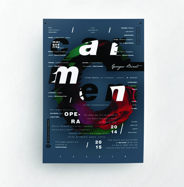 Carmen | opera poster - illustration - jovana-1168 | ello