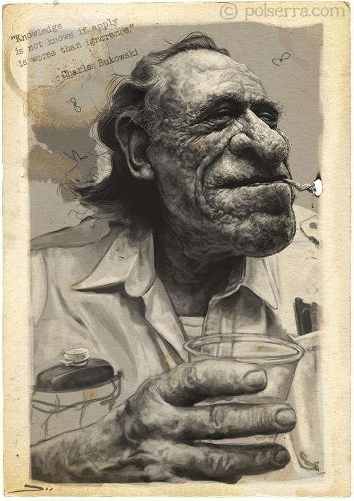 Charles Bukowski - illustration - pol-5095 | ello