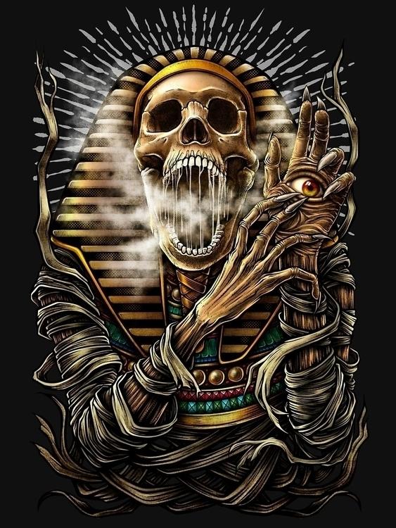 Winya 60-2 - mummy, pharaoh, coffin - winya | ello