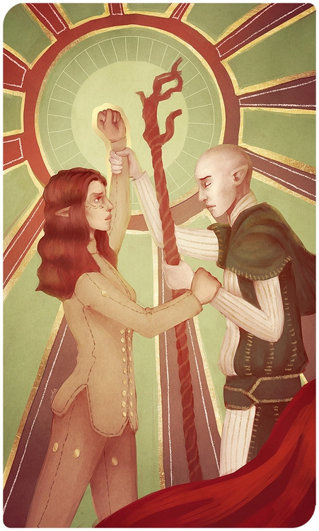 Stalemate - illustration, dragonageinquisition - ryuutsuart | ello