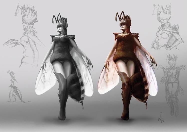 Queen Bee concept - conceptart, drawing - pietkaw | ello