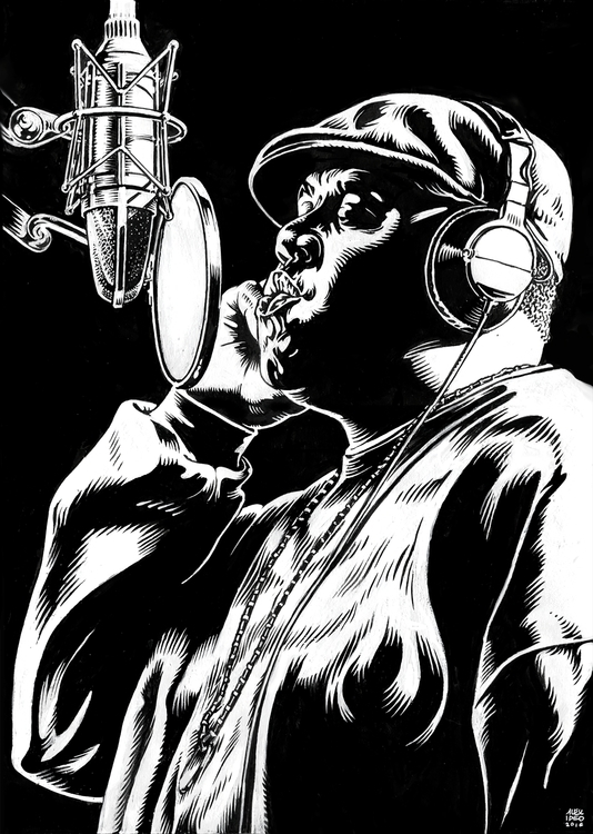 Notorious Big - illustration, characterdesign - alexideo | ello