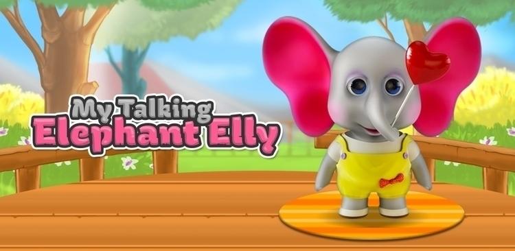 Talking Elephant Elly - mobile, app - peaksel | ello