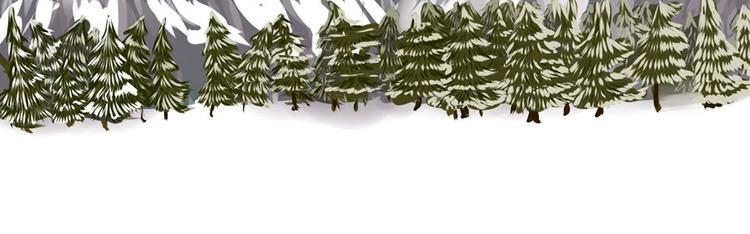 forest background - trees, snow - fairyjelly | ello