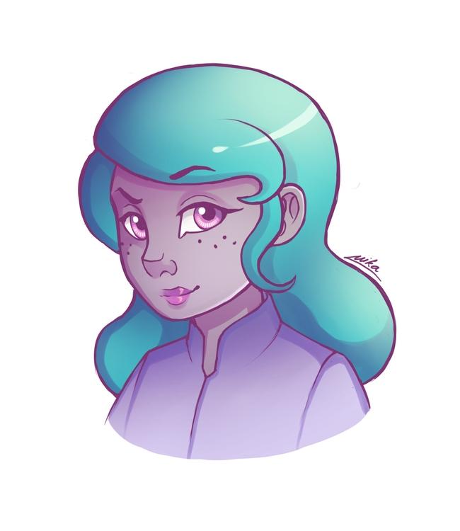 Turqoise - illustration, characterdesign - ryuutsuart | ello