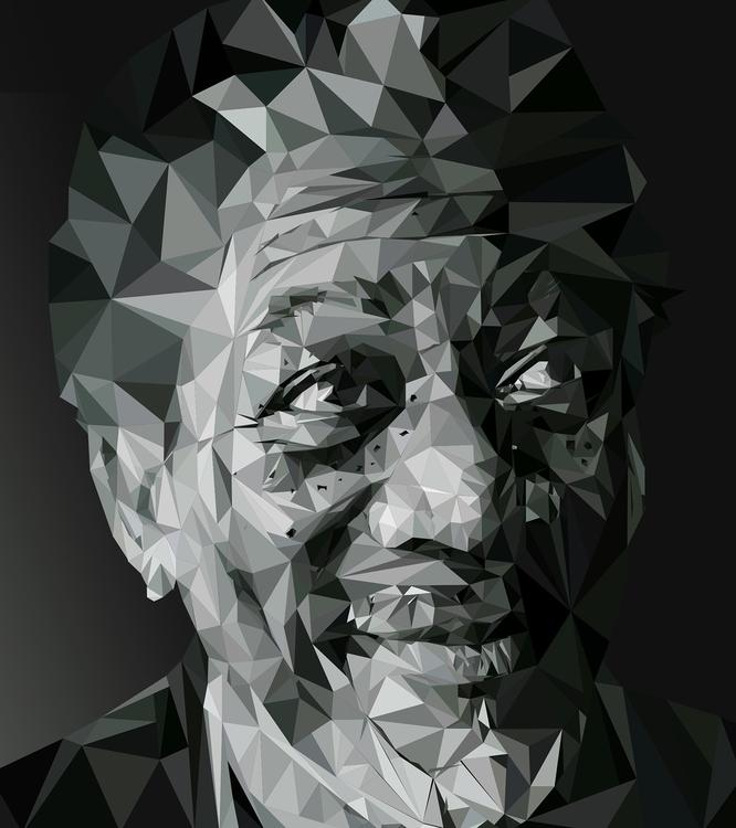 Morgan Freeman - illustration, digitalart - leoniewilliamson | ello