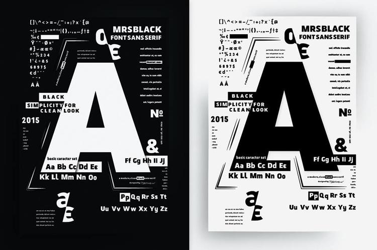 Poster presentation font MrsBla - jovana-1168 | ello