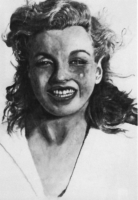 Marilyn - watercolor, painting, portrait - egral | ello