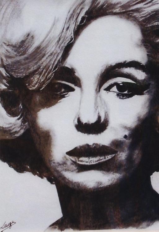 Marilyn - watercolor, blackandwhite - egral | ello