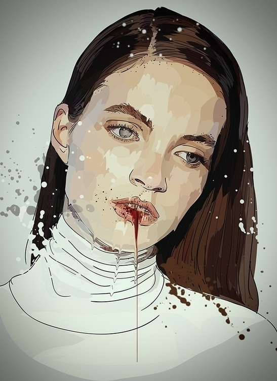 Disease - woman, girl, blood, disease - roxycolor | ello