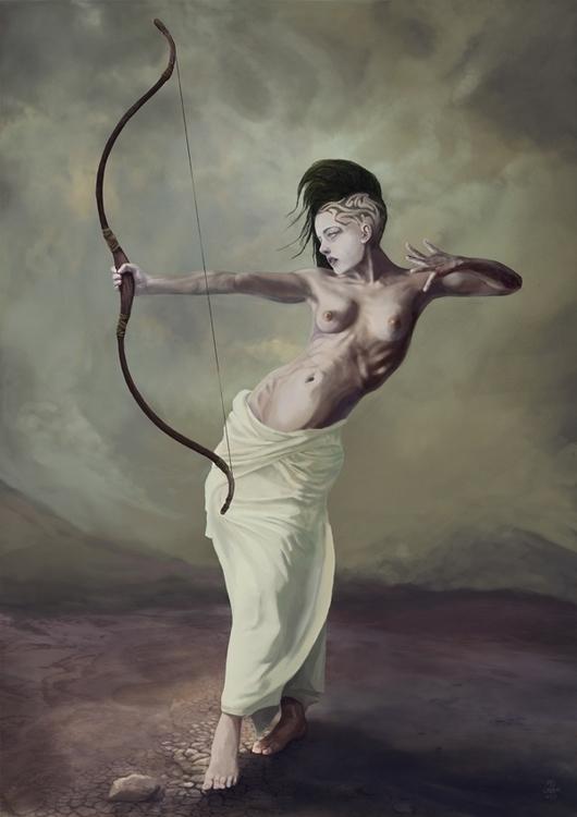 Sagittarius - illustration, characterdesign - q2jacek | ello