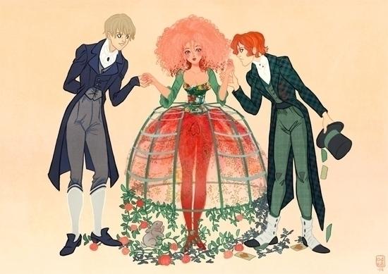 teenage Alice suitors - illustration - audreybussi | ello