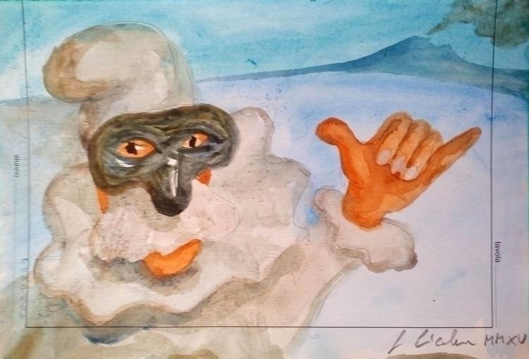 pulcinella gouache - illustration - cicalese | ello