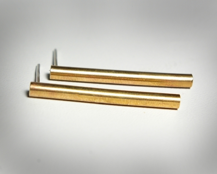 Bold Brass Bar Earrings - fashion - tessbulman | ello