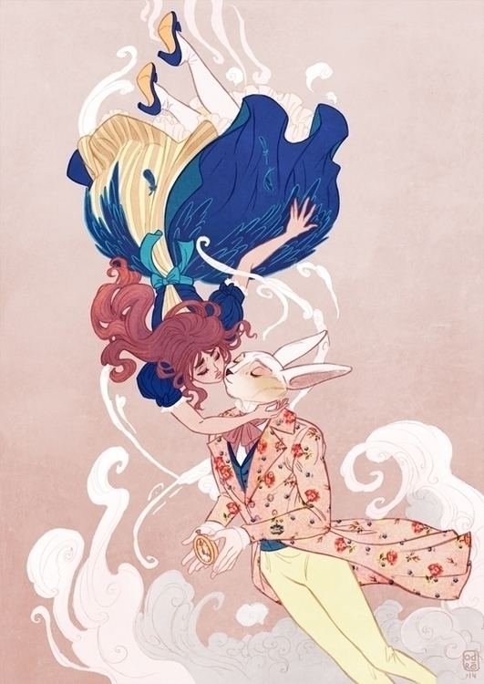 Alice Rabbit. Time goodbye - illustration - audreybussi | ello