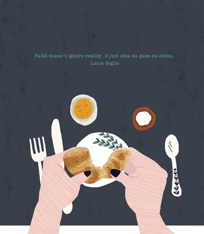 Dinner Table - illustration, painting - yebin   ello